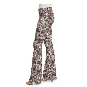 7 For All Mankind Size 29 Jeans Flare Leg Paisley